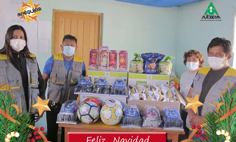 AUTODEMA CELEBRA NAVIDAD EN LOS ANEXOS DE TARUCAMARCA Y PUSA PUSA-CAYLLOMA