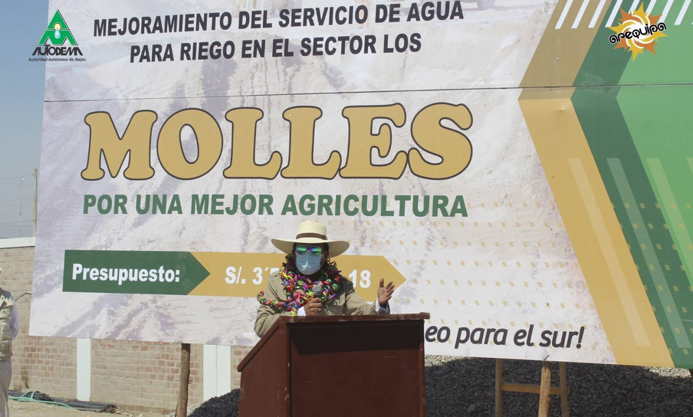 AUTODEMA INICIÓ OBRA DE MEJORAMIENTO DE AGUA PARA RIEGO EN EL SECTOR LOS MOLLES – PEDREGAL